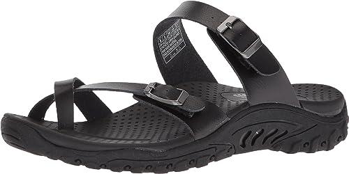 Skechers Wohommes Reggae-Carribean-Double Buckle Toe Thong Slide Slide Slide Sandal, noir, 8 M US 3b7