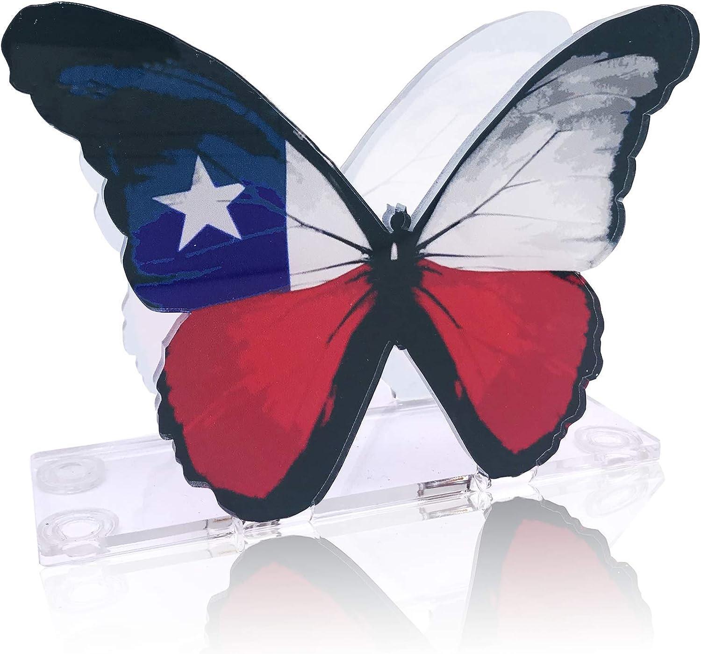 Acrylic quality assurance Napkin Holder Very popular American Flag Butterfly Patr Design Shaped