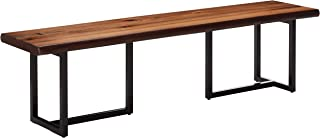 Suthers Rustic Live Edge Dining Bench Brown