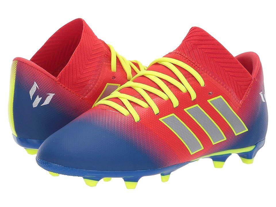 adidas Kids Nemeziz Messi 18.3 FG Soccer (Little Kid/Big Kid) (Active Red/Silver/Blue) Kids Shoes