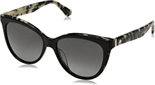 Women's Daesha/s Polarized Round Sunglasses, Black havana, 56 mm