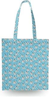 Unicorn Stars Blue - Open Canvas Tote Bag - Canvas Tote Bag