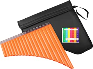 Mr.Power Pan Flute 18 Pipes C Key Panpipe Music Wind Instrument &Bag for Beginners Student GiftBeginners Student Gift