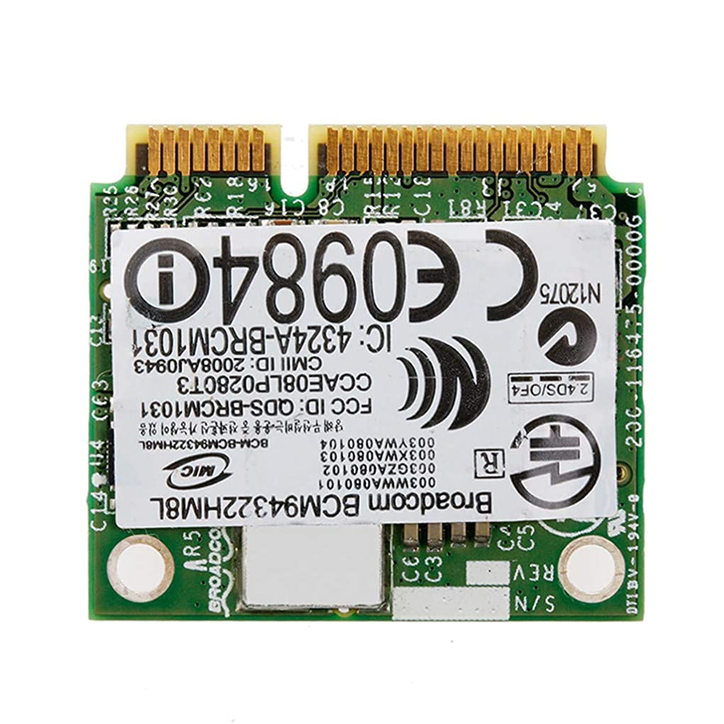 前奏曲大声で評論家Rabortw ミニ PCI-E BCM94322HM8L DW1510 デュアルバンド 300 m ワイヤレスカード DELL E4200 E5500