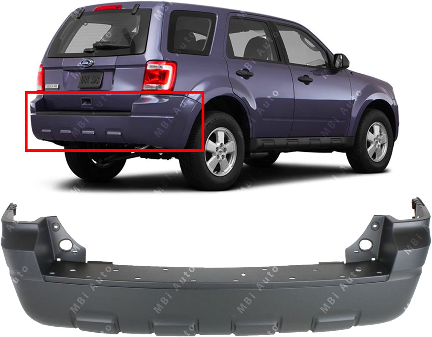 MBI AUTO - Primered Rear Bumper Cover Replacement 2008 2009 40% NEW before selling OFF Cheap Sale for