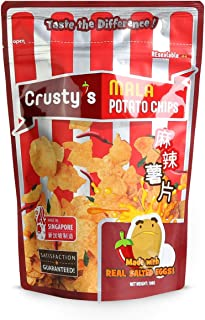 Crusty's Mala Salted Egg Potato Chips, 100 g