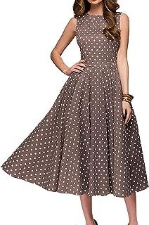 Women's Vintage Dress Sleeveless O-Neck Party Cocktail Dress