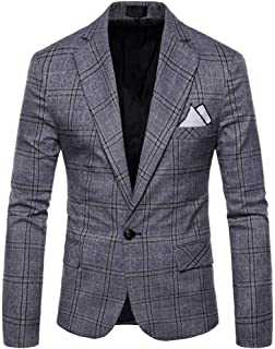 Losait Mens Open Front Sequin Glitter Blazer Jacket Wedding Prom Party