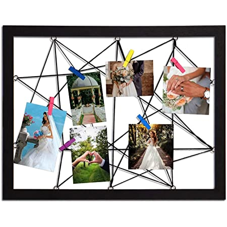 70x48 CM-Deco Photo Holder Photo Leash Wooden Picture Frame With Rope And Brackets