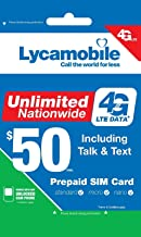 Lycamobile USA Sim Card Include $50 Monthly Plan With Unlimited Data Plus Free International Calls To 50 Countries