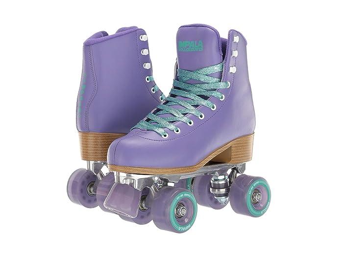 70s Shoes, Platforms, Boots, Heels Impala Rollerskates Impala Quad Skate Big KidAdult PurpleTurquoise Girls Shoes $95.00 AT vintagedancer.com