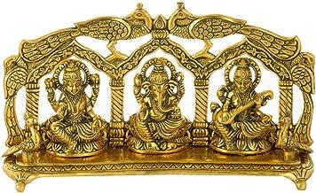 Nexplora Industries Pvt. Ltd. Laxmi Ganesh Saraswati Idol Showpiece Metal Statue for Home Decor | Pooja Gift Decorative Murti