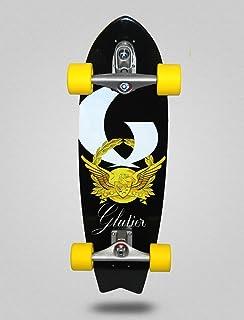 Glutier Surfskate with T12 Surf Skate Trucks. Gold...