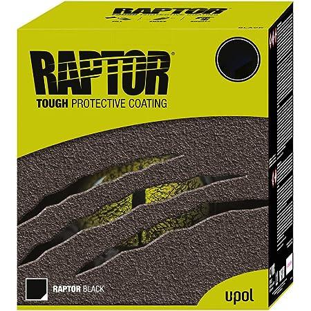 U Pol Raptor Liner Robuste Langlebige Imprägnierung Urethan Beschichtung 1001 Anwendungen Schwarz Auto