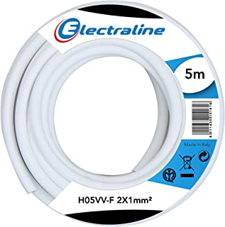 Electraline 11420 H05VV-F Extension Cable 2 x 1 mm Length 5 m