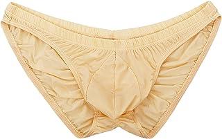 Summer Code Men's Sexy Bikini Brief Elastic Silky Ruched Back Underwear Swimwear …