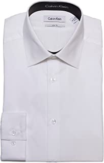 Tone/Tone Stripe Slim Fit 100% Cotton Solid Dress Shirt - 33T0476