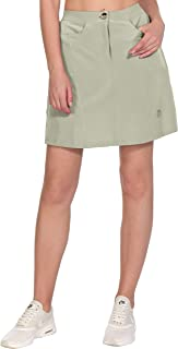 Little Donkey Andy Women's Athletic Skort Build-in Shorts with Pockets UPF 50+ Running Tennis Golf Sports Skirt