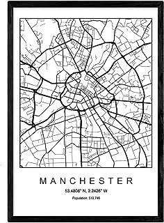 P/óster de mapa personalizado con texto en ingl/ésWhen Our Journey Began enmarcado A3 blanco