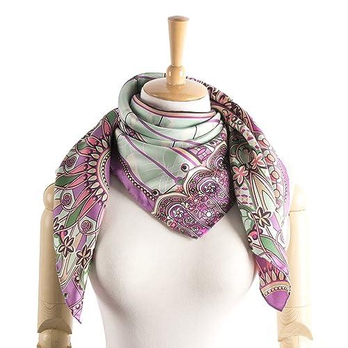 e535d818f73 M.Picchu Women s Foulard 100% Silk Scarf