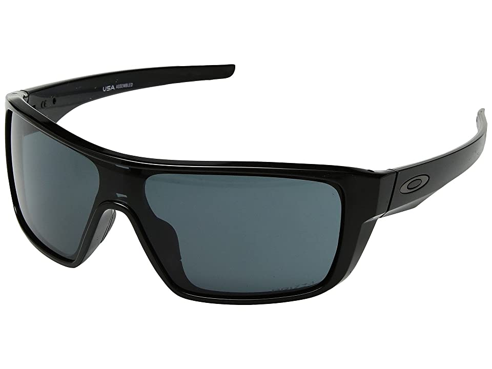 Oakley Straightback (Polished Black w/ Prizm Grey) Athletic Performance Sport Sunglasses
