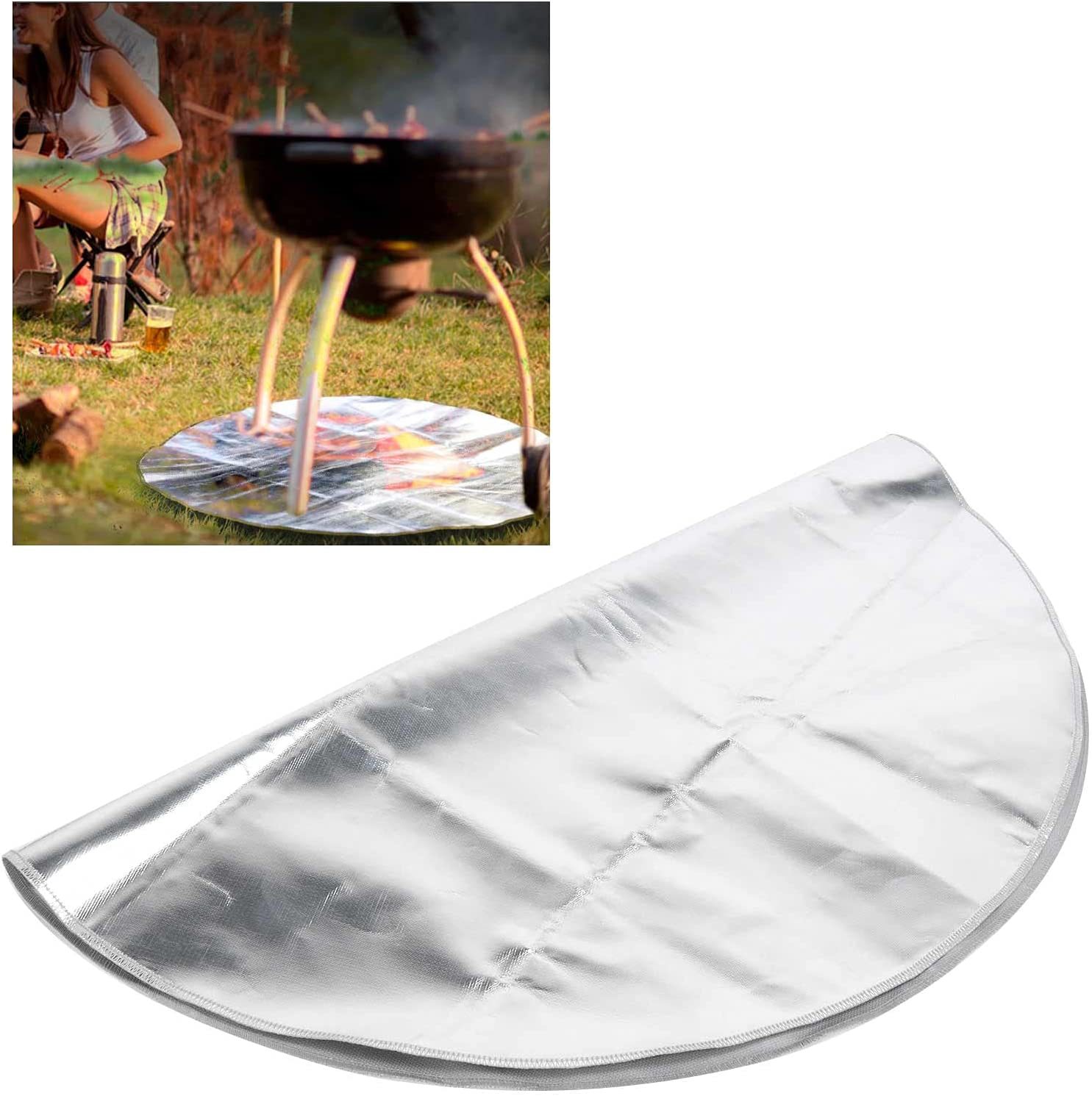 BOLORAMO Fire Pit Factory outlet Mat fo Protector Mail order Heat‑Resistant