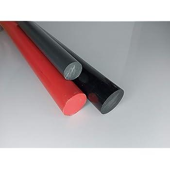 L: 500mm 50cm PVC Rundstab rot /Ø 100mm PVC-U Kunststoffstab auf Zuschnitt