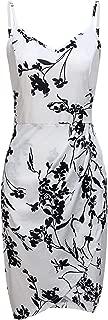 MOQIVGI Womens Adjustable Spaghetti Strap Bodycon Tulip Hem Floral Dresses