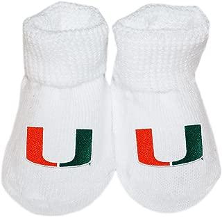 University of Miami UM Hurricanes Newborn Baby Bootie Sock