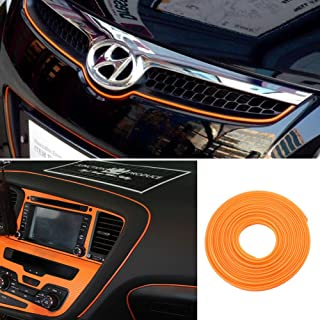 ATMOMO Orange 5M Flexible Trim for DIY Automobile Car Interior Exterior Moulding Trim Decorative Line Strip