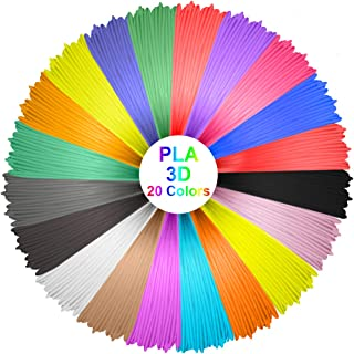 Elegiant 20 st. PLA 1,75 mm 10 m trådar för 3D-tryck material för 3D-tryck kreativa hobbyer 20 Stück PLA 1.75MM 10M