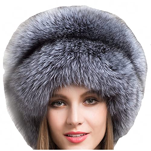 f4225e7ad97 Valpeak Women s Genuine Fox Fur Hat with Tail Winter Mongolian Hats