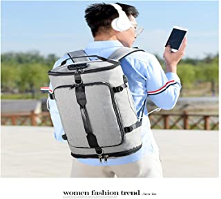 Casual Daypack,Multifunction Large Capacity Laptop Backpack,USB Charging Anti-Theft Outdoor Travel Unisex Gray