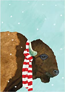 Bison - Box of 15 Holiday Cards and Envelopes