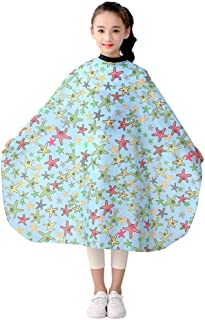 Barber Hair Cutting Cape Kids, Salon Haircut Styling Smock Cover Cloth for Toddler