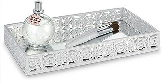 Dwellza Mirror Janette Vanity Mirror Tray for Dresser (11 x 6.12 x 1.6) ? Decorative Cosmetics Organizer- Durable Resin- B...