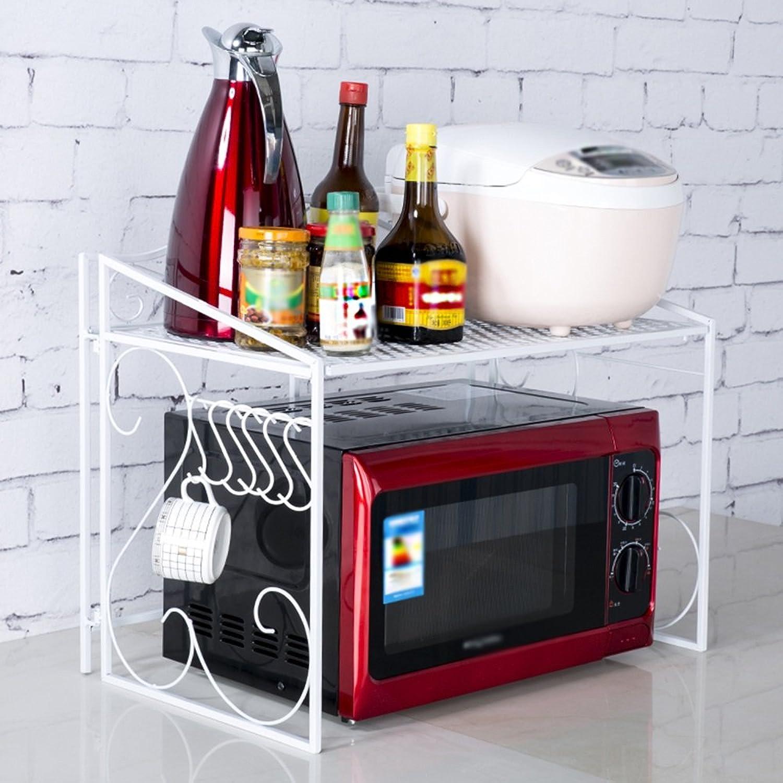 servicio considerado Shelf-xin Cocina Microondas Microondas Microondas Rack Cocina Estante Estante Utensilios de Cocina Pot (Color   blancoo)  oferta especial