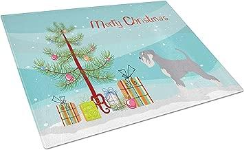Caroline's Treasures BB8512LCB Schnauzer Christmas Chopping Board Large Multicolor