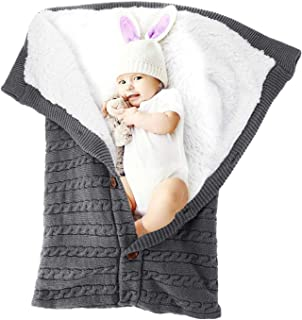 Baby Swaddle Blanket Winter Stroller Blanket for Infant, Receiving Blankets Sleeping Bag for Newborn and Toddlers