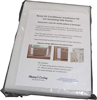 "Nature's Cooling Solutions Window AC Insulating Side Panels + 17.5"" Tall+ Set of (2) + Semi Rigid Closed Cell + Waterproof +UV+ Size: 17.5 x 9.6 x .75 inches"