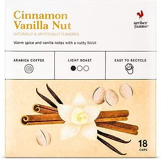 Archer Farms Cinnamon Vanilla Nut Light Roast ,6.35 OZ, 18 K-cups (One Pack)