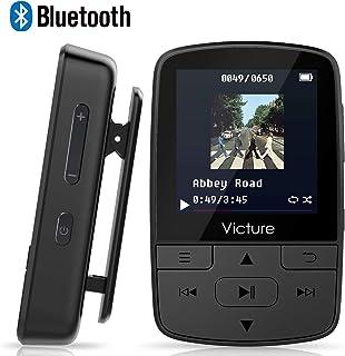 Victure 16GB Reproductor MP3 Bluetooth 4.1 con Clip Reproductor de Música para el Deporte Pantalla TFT de 1.5 pulgadas, FM Radio, Podometro, Auriculares, Soporte SD USB TF hasta 128 GB Tarjeta