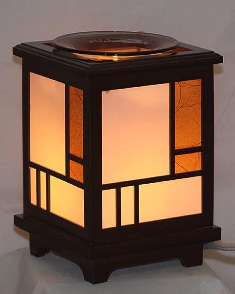 Wooden Lantern EW 709 Electric Fragrance Oil Tart Warmer Burner Warmer Lamp With Dimmer Switch
