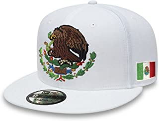Yupoong Mexico Snapback dadhat Flat Panel and Vintage Hats Embroidered Shield and Flag