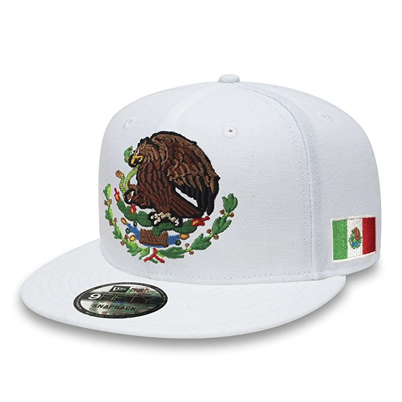 Yupoong Mexico Snapback Hats Embroidered Shield and Flag