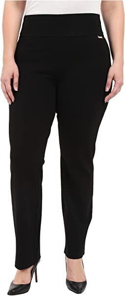 Calvin Klein Plus - Plus Size Wide Waist Straight Pants