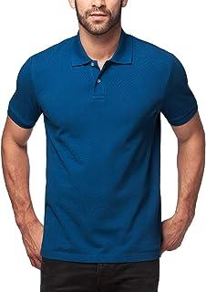 LAPASA Polo Uomo Manica Corta Cotone Premium Classic Fit T-Shirt Maniche Corte M19