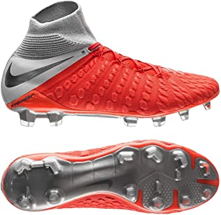 Men's Hypervenom III Elite DF FG Cleats (Light Crimson/Metallic Dark Grey)