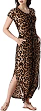 VFSHOW Women Scoop Neck Button Up Pockets Side Slits Casual Beach Party Maxi Dress