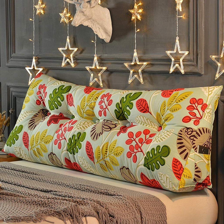 SYFO Coussin de lit Oreiller de lit en Toile Grand Coussin Dorsal Double Taille Coussin tête de lit Dossier (Couleur   C, Taille   200cm)